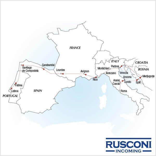 Rusconi Viaggi Incoming Italy Croatia Bosnia France Spain Portugal