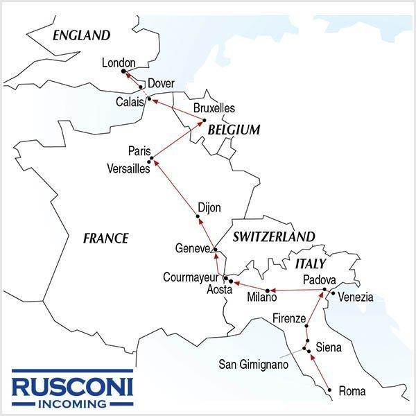 Rusconi Viaggi Incoming Italy Switzerland France Belgium England